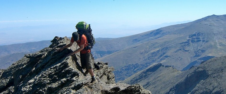 Scrambling in the Sierra Nevada Spain