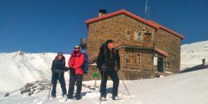 Winter skills at Refugio Poqueira